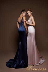 Вечернее платье 9080. Цвет шампань. Вид 1
