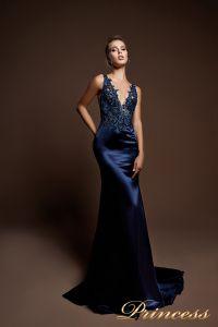 Вечернее платье 9080. Цвет шампань. Вид 2