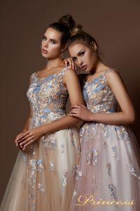 Вечернее платье 9082. Цвет бежевый. Вид 3