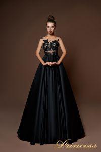 Вечернее платье 9083. Цвет чёрный. Вид 1