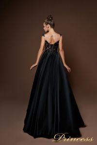 Вечернее платье 9083. Цвет чёрный. Вид 2