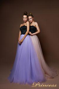 Вечернее платье 9084. Цвет бежевый. Вид 1