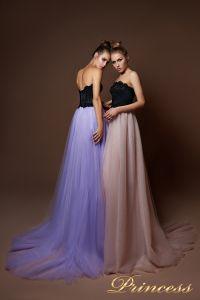 Вечернее платье 9084. Цвет бежевый. Вид 2