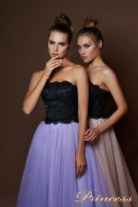 Вечернее платье 9084. Цвет бежевый. Вид 3