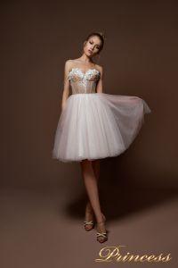 Вечернее платье 9085. Цвет бежевый. Вид 2