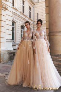 Вечернее платье 15088. Цвет розовый. Вид 1