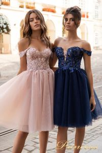 Вечернее платье 15091. Цвет navy. Вид 3