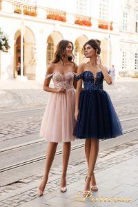 Вечернее платье 15091. Цвет navy. Вид 1