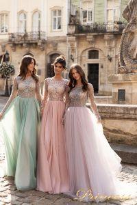 Вечернее платье 15093. Цвет лавандовый . Вид 1