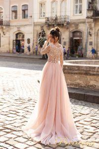 Вечернее платье 15093. Цвет лавандовый . Вид 2