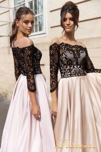 Вечернее платье 15094. Цвет айвори. Вид 2