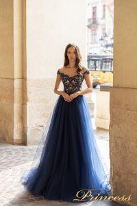 Вечернее платье 15095. Цвет navy. Вид 1