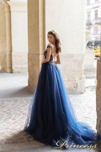 Вечернее платье 15095. Цвет navy. Вид 2