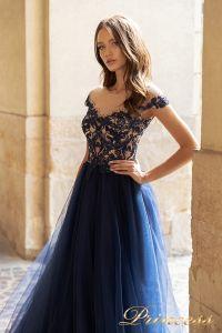 Вечернее платье 15095. Цвет navy. Вид 3