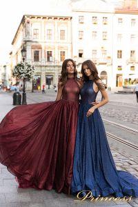 Вечернее платье 15098. Цвет marsala. Вид 1