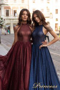 Вечернее платье 15098. Цвет marsala. Вид 3