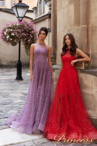Вечернее платье 15100. Цвет красный. Вид 1