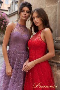 Вечернее платье 15100. Цвет красный. Вид 2