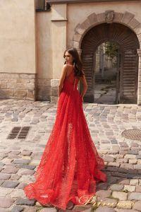 Вечернее платье 15100. Цвет красный. Вид 3