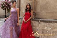Вечернее платье 15100. Цвет красный. Вид 4