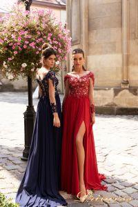 Вечернее платье 15101. Цвет navy. Вид 2