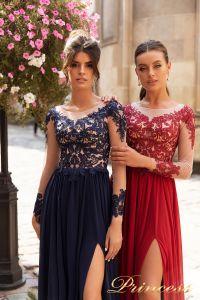 Вечернее платье 15101. Цвет navy. Вид 3
