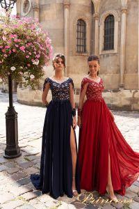 Вечернее платье 15101. Цвет navy. Вид 1