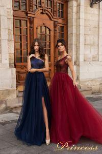 Вечернее платье 15102. Цвет marsala. Вид 1