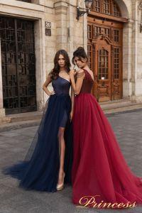 Вечернее платье 15102. Цвет marsala. Вид 2