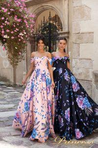 Вечернее платье 15103. Цвет розовый. Вид 1