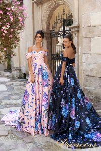 Вечернее платье 15103. Цвет розовый. Вид 3