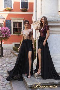 Вечернее платье 15104. Цвет marsala. Вид 1