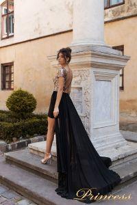 Вечернее платье 15104. Цвет marsala. Вид 3