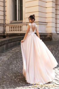 Вечернее платье 15108. Цвет розовый. Вид 2