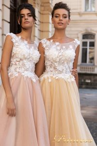 Вечернее платье 15108. Цвет розовый. Вид 3