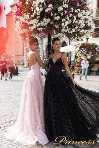 Вечернее платье 15112. Цвет розовый. Вид 2