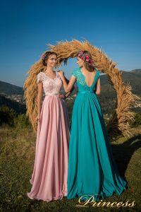 Вечерние платья 29015. Цвет бирюзовый. Вид 1