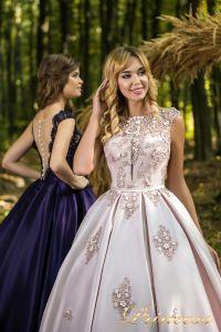 Вечернее платье 29037. Цвет айвори. Вид 2