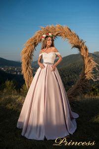 Вечернее платье 29060. Цвет айвори. Вид 1