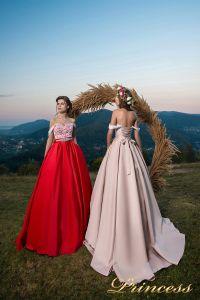 Вечернее платье 29060. Цвет айвори. Вид 2