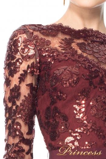 Вечернее платье Tadashi Shoji ALT1224LM. Цвет красный. Вид 2