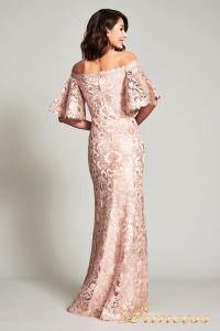 Вечернее платье ATV17375L. Цвет персиковый. Вид 3