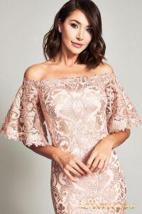 Вечернее платье ATV17375L. Цвет персиковый. Вид 2