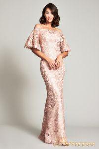 Вечернее платье ATV17375L. Цвет персиковый. Вид 1