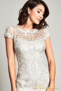 Вечернее платье 1812GR. Цвет бежевый. Вид 3