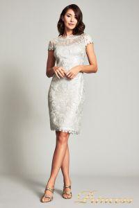 Вечернее платье 1812GR. Цвет бежевый. Вид 1
