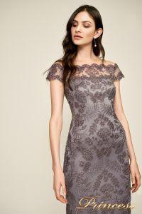 Вечернее платье AUL 17021l darkp earl crop. Цвет стальной. Вид 3