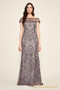 Вечернее платье AUL 17021l darkp earl crop. Цвет стальной. Вид 1