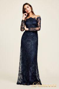 Вечернее платье Tadashi Shoji AUL18234L NAVY. Цвет синий. Вид 2