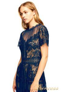 Вечернее платье AWI 17173L NAVY NUDE. Цвет синий. Вид 2
